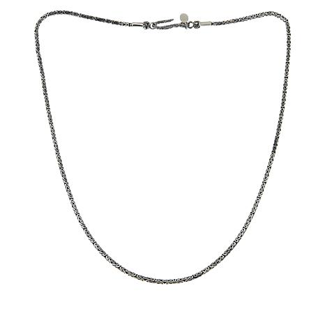 Bali Designs 2.5mm Byzantine Sterling Silver Necklace - 24""