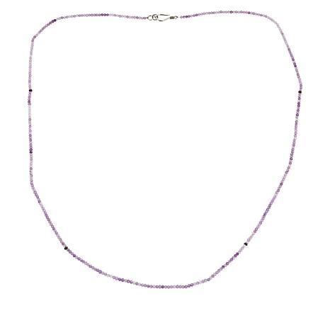 "Bali Designs 32"" Sterling Silver Gemstone Beaded Necklace"