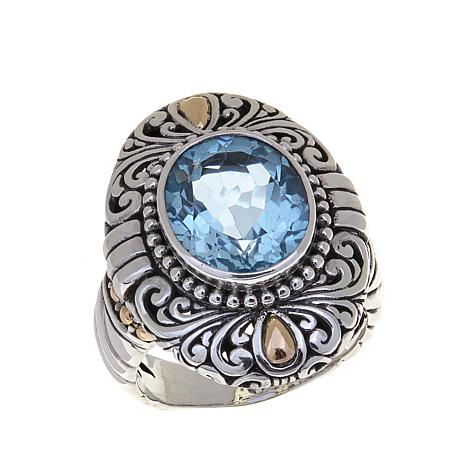 sterling on glitzy rocks free topaz rings silver sky shipping product watches jewelry ring blue
