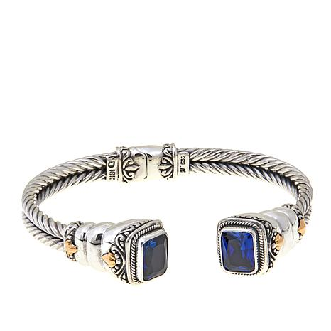 Bali Designs by Robert Manse 5ctw Created Blue Sapphire Sterling