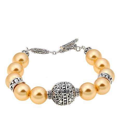 Bali Designs by Robert Manse Golden Shell Bead Bracelet