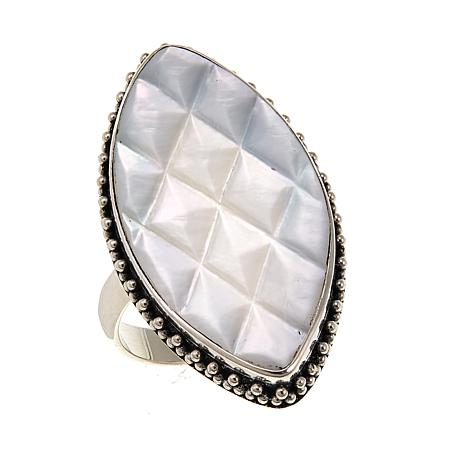 Bali Designs by Robert Manse Mother-of-Pearl Marquise-Shaped Ring