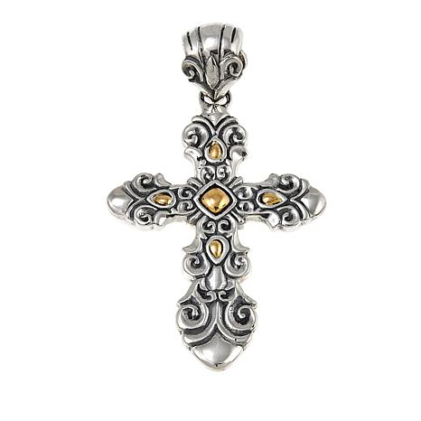 Bali designs by robert manse sterling silver 18k gold cross bali designs by robert manse sterling silver 18k gold cross pendant aloadofball