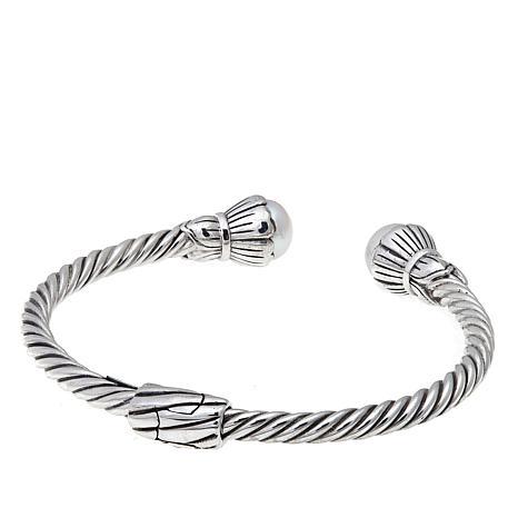 7e1a9120537 Bali Designs Cultured Freshwater Pearl Cable Cuff Bracelet - 8347241   HSN
