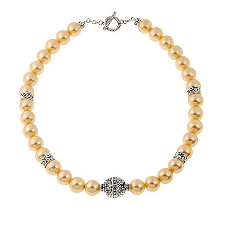 "Bali Designs Golden Shell Bead 18"" Necklace"