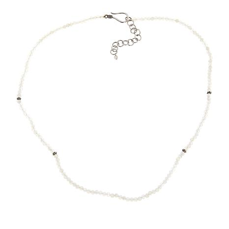 "Bali Designs Moonstone Faceted Bead 18"" Necklace"