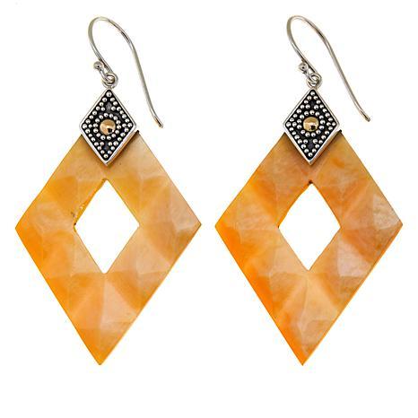 Bali Designs Mother-of-Pearl Diamond-Shape Earrings