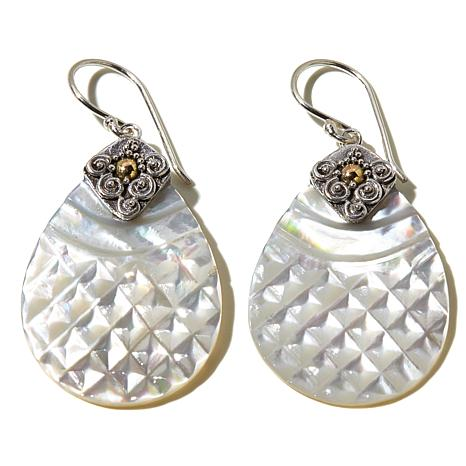 Mother of Pearl & 925 Sterling Silver Earrings 3TgHac