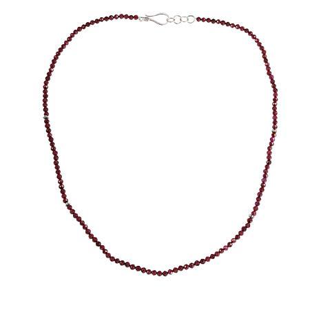 """Bali Designs Rhodolite Beaded 18"""" Necklace"""