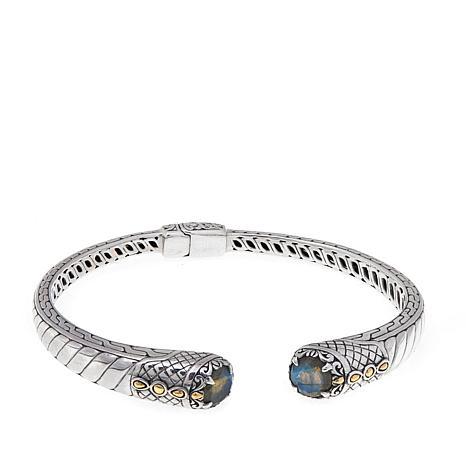 Bali Designs Round Labradorite Cable Cuff