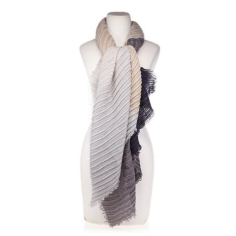 Basha Colorblock Pleated Scarf Wrap
