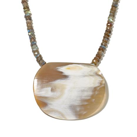 "Bé ""Kamaria"" Labradorite and Natural Horn Necklace"