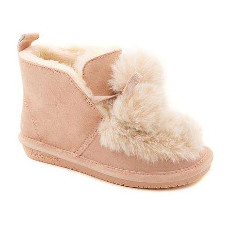 BEARPAW® Augustina Suede Pompom Boot  with NeverWet™