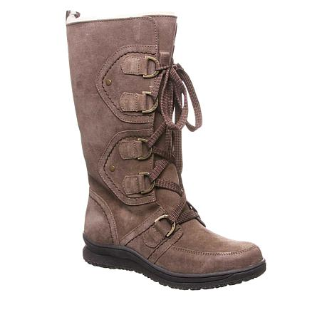 BEARPAW® Colby Suede Lace-Up Boot with NeverWet™