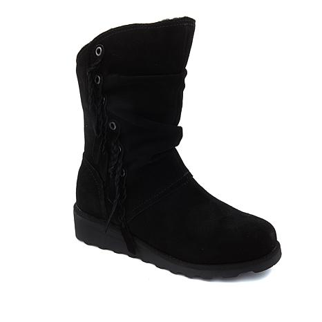 BEARPAW® Dana Suede Braided Boot with NeverWet™