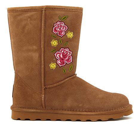 BEARPAW® Dreamer Suede Embroidered Boot with NeverWet™