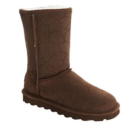 BEARPAW® Eliana Suede Sheepskin Boot with NeverWet™