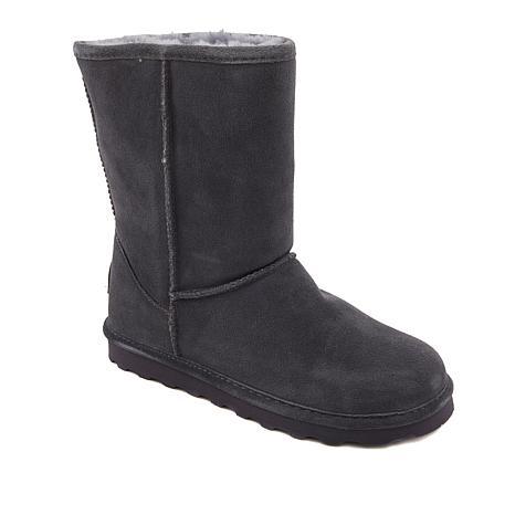 BEARPAW® Elle Short Suede Sheepskin Boot with NeverWet™ - Wide