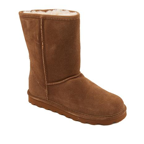 17cac39c71c8 BEARPAW® Elle Short Suede Sheepskin Boot with NeverWet™ - Wide - 8829634