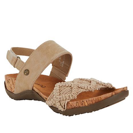 BEARPAW® Emerson Macramé Slingback Sandal