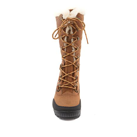 22f39517f56 BEARPAW® Isabella Leather Lace-up Waterproof Boot - 8865848   HSN