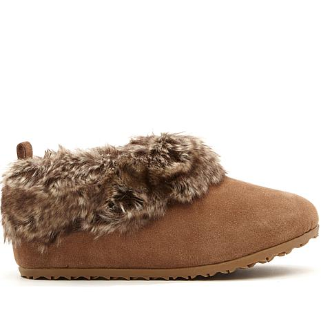 BEARPAW® Liliana Suede Slipper with Faux Fur