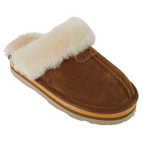 BEARPAW® Retro Loki Suede Sheepskin Platform Mule Slipper w/NeverWet™