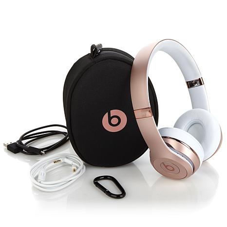 Beats Solo3™ On-Ear Bluetooth Wireless Headphones with Carrying Case and  RemoteTalk In-Line Cable