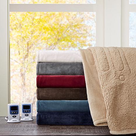 Beautyrest Microlight/Berber Heat Blanket - Full/Red