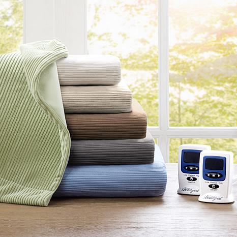 Beautyrest Washable Fleece Electric Blanket -King/Green