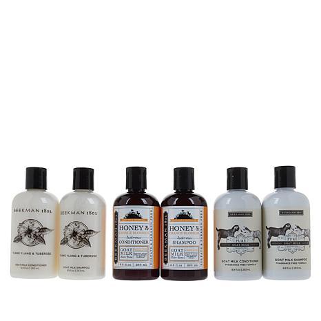 Beekman 1802 6-piece Goat Milk Shampoo & Conditioner Set