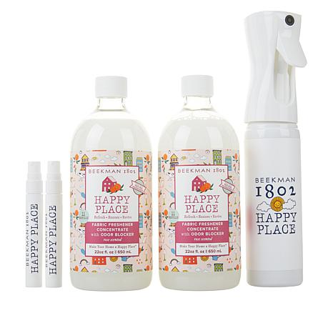 Beekman 1802 Happy Place Rose Fabric Freshener Concentrate Kit