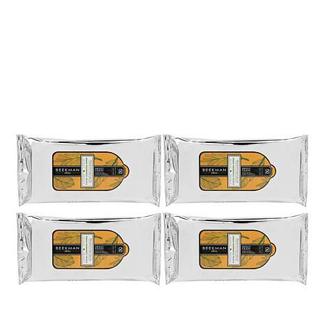 Beekman 1802 Sweet Grass 4-pack Face Wipes
