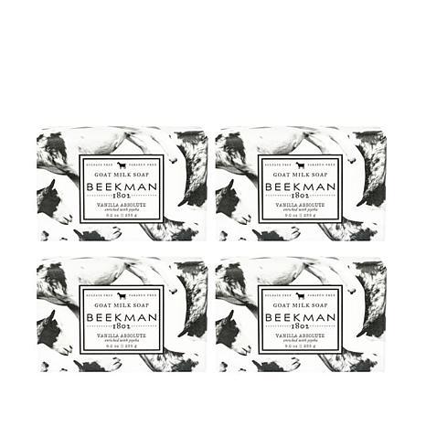 Beekman 1802 Vanilla Absolute Goat Milk Bar Soap 4-piece Set