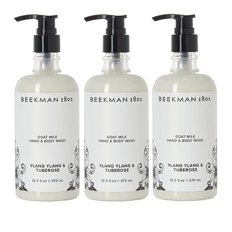 Beekman 1802 Ylang Ylang & Tuberose Goat Milk Hand & Body Wash Trio