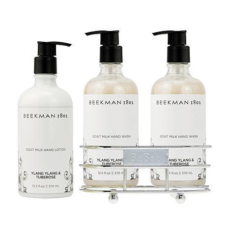 Beekman 1802 Ylang Ylang & Tuberose Hand Wash & Lotion Caddy Set