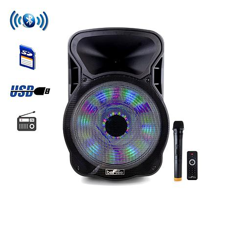 "beFree Sound 15"" Bluetooth Party Speaker w/Lights"