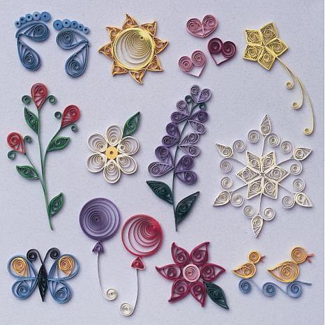 Beginner quilling kit 3573016 hsn for Simple paper quilling designs