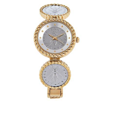 """Bellezza """"Bee"""" Lira Coin Rope Bracelet Watch"""