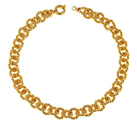 "Bellezza Bronze Bold Rope-Link 18-1/4"" Necklace"