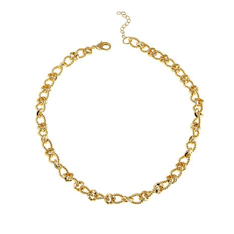 "Bellezza  Bronze Mixed-Texture Rope-Link 24-1/2"" Necklace"