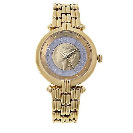 Bellezza Women's Lira Coin Bronze Bracelet Watch