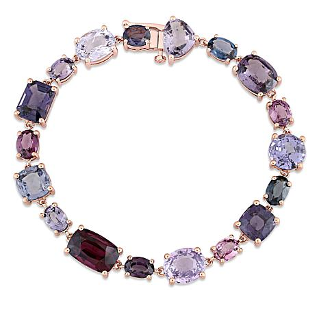 Bellini  10K Rose Gold Multi-Color Spinel Geometric Bracelet