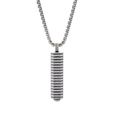 32a1c25a48b3 Ben Sherman Men s Stainless Steel Geo Bar Pendant Necklace - 8641454 ...