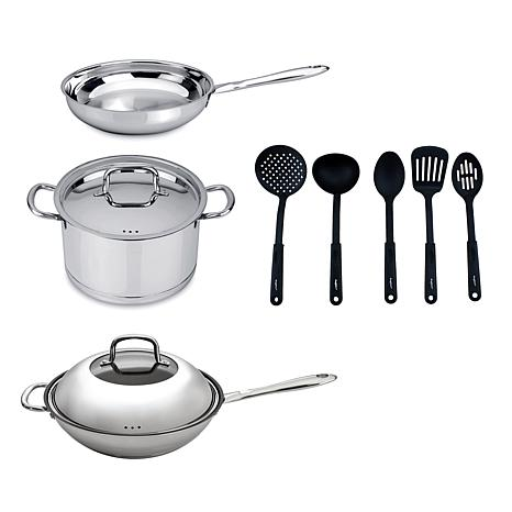 BergHOFF® CollectNCook 18-10 Stainless Steel 10-piece Cookware Set