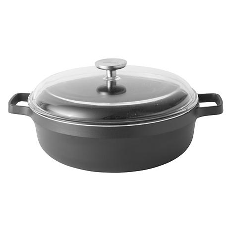 "BergHOFF Gem 11"" 5-Quart Non-Stick Covered Two-Handle Saute Pan"