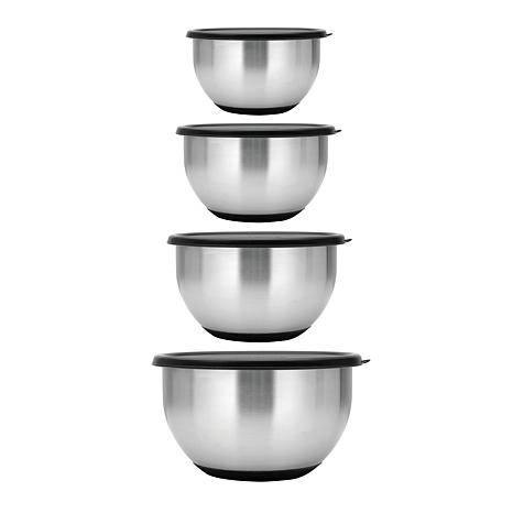 BergHOFF Geminis 8-piece Stainless Steel Mixing Bowl Set with Lids