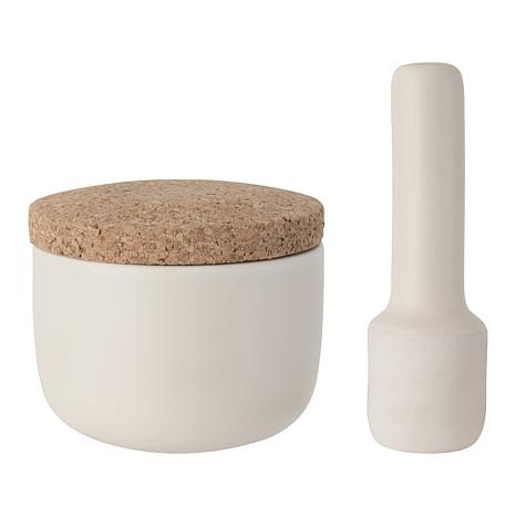 """BergHOFF Leo 3-piece 4"""" Covered Mortar and Pestle"""