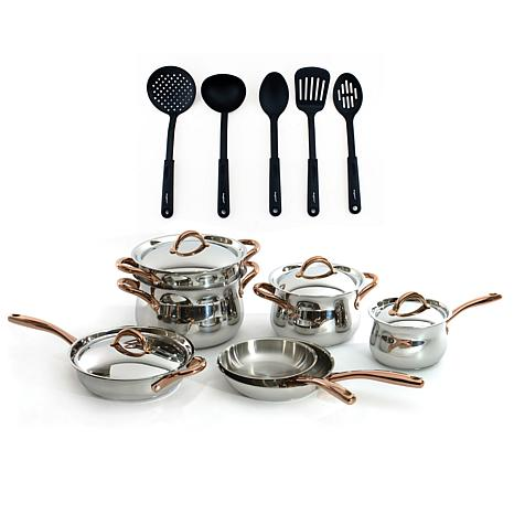 BergHOFF® Ouro Stainless Steel 11-piece Cookware Set with Nylon Tools