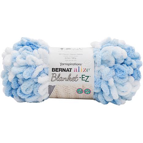 Bernat Alize Blanket-EZ Yarn - White Blue